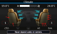 Alpine VW Interface retains visual representation of air condition and heater controls