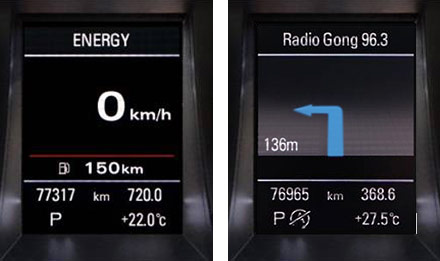 Audi A3 - X803D-A3 - Retains Driver Information Display