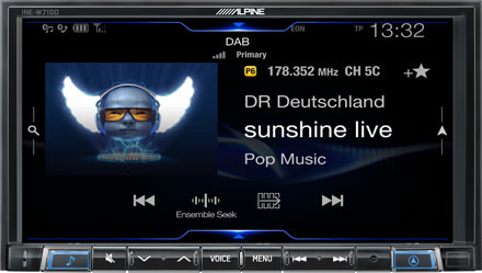 BMW 3 E46 - DAB Digital Radio - INE-W720E46