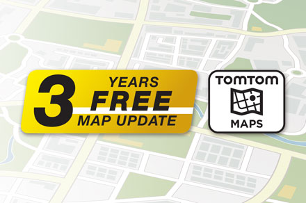 TomTom Maps with 3 Years Free-of-charge updates - INE-F904S907